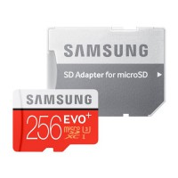 Карта памяти Samsung microSDHC EVO Plus V2 256 Gb + SD adapter
