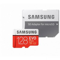 Карта памяти Samsung microSDHC EVO Plus V2 128 Gb + SD adapter